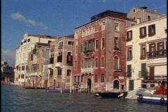 Grand Canal of Venice, sunny, POV,  palazzos, Stock Footage
