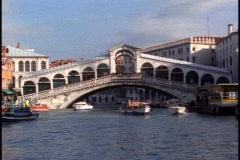The Rialto Bridge, POV moving toward and then under Stock Footage