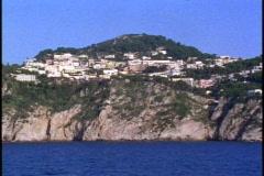 Isle of Capri,  pass houses on hillside,  POV Stock Footage