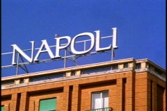 Napoli sign Stock Footage