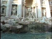 Stock Video Footage of Trevi Fountain of Rome,  no people, pan right