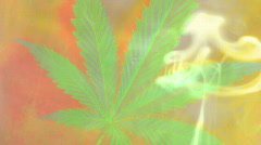 smoke weed colorful - stock footage