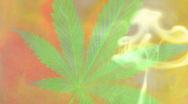 Smoke weed colorful Stock Footage