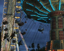 Carnival ride at night Stock Footage