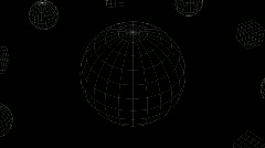 Kugel orb +cube wireframe Stock Footage