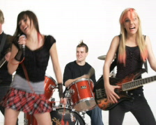 high school rock band - stock footage