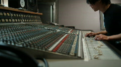 Recording studio technician at work Stock Footage