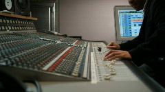 Music producer at work Stock Footage