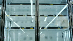 Stock Video Footage of empty shelves at grocery store