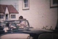 Couple Leaving On Their Honeymoon (1960 Vintage 8mm film) Stock Footage