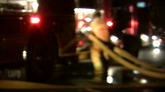 Firefighter Stock Footage
