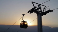 Stock Video Footage of Gondola at Sunset