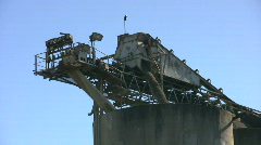 Cement Plant Loading Stones - Close Up Stock Footage