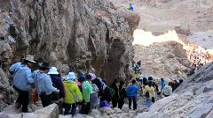 Pilgrims. Moses Mountain. Sinai Peninsula. Egypt Stock Footage