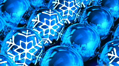Christmas balls background. Loop - stock footage