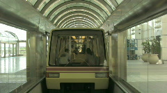 An Airport Shuttle Leaving the Terminal 1 Stock Footage