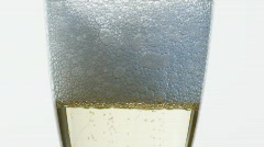 Champagne in a glass Stock Footage