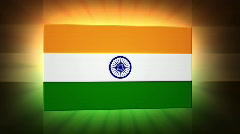 India 3d Flag Stock Footage