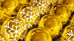 Christmas balls background. Loop Stock Footage