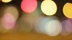 Circles of city traffic Stock Footage