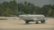 Stock Video Footage of An Airline Jet Gets Goes Out onto the Runway to take off 2