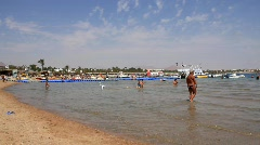 Beach in Egypt Stock Footage