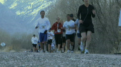 Runners during a marathon Stock Footage