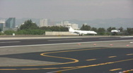 Small Corporate Jet Landing Stock Footage