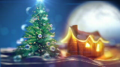 Beautiful  Xmas Tree Zoomout Stock Footage