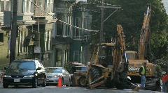 Construction on City Street - stock footage