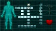 Medical Crossword EKG Stock Footage