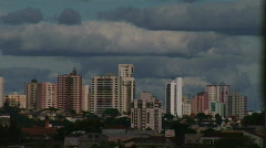Timelapse Shadows across buildings - City skyline 1 Stock Footage