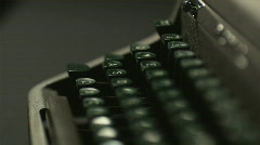 the keyboard of an old-fashioned typewriter - stock footage