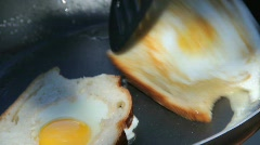 Cooking Breakfast at a Campsite - stock footage