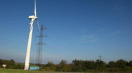 Stock Video Footage of Windpower and pylons