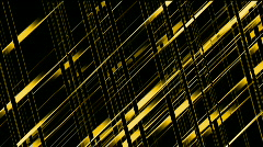 Golden metal pipe Intertwined in 3d space.science fiction,future,Design,symbol Stock Footage