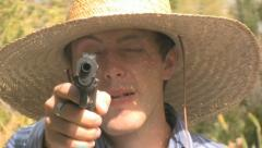 Angry Cowboy with a Gun 4 Stock Footage