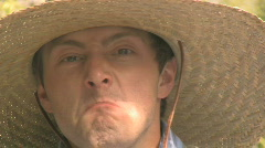 Angry Cowboy with a Gun 5 Stock Footage