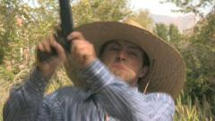 Angry Cowboy with a Gun 7 Stock Footage