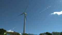Wind Turbine (pan left to right) Stock Footage