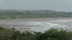 Shoreline on a Costa Rican beach Stock Footage