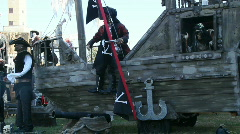 Haunted Pirate Ship Stock Footage