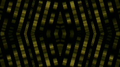 Golden metal pipe metal chain steel bars copper design dream vision background. Stock Footage