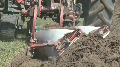 Close up of plough working Stock Footage