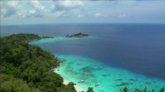 Similan islands perfect beach from top Stock Footage