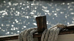 Ropes on an old ship Stock Footage