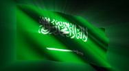 Saudi Arabia Flag Stock Footage