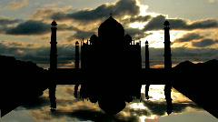 TAJ MAHAL reflecting - stock footage