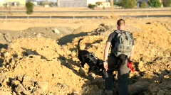 Canine Search and Rescue Team Stock Footage