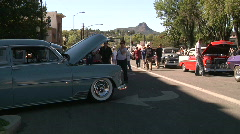 Small town car show - stock footage